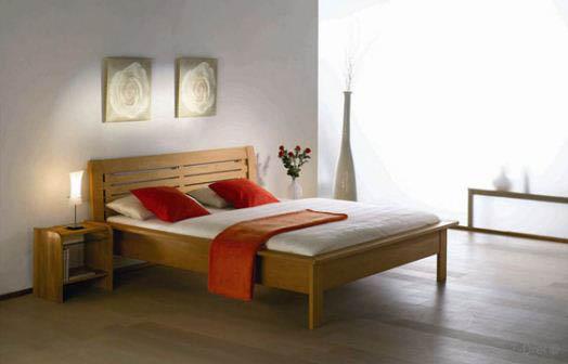 Doppelbett aus Massivholz - Betten